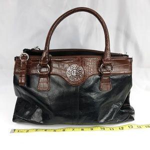 Giani Bernini handbag, black leather w/faux trim